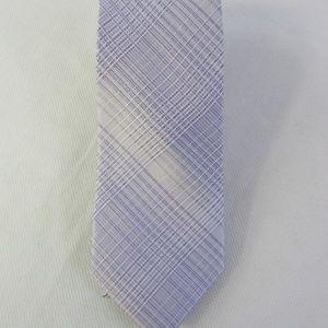 Calvin Klein Men's Hi-Ridge Lilac Plaid Slim Tie